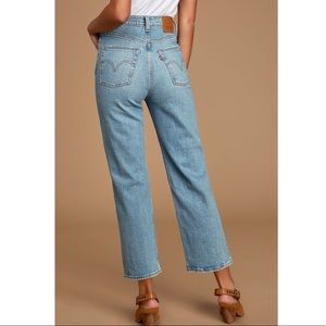 Levi's Jeans - Levi's Ribcage Straight High Waisted Crop Jeans 25